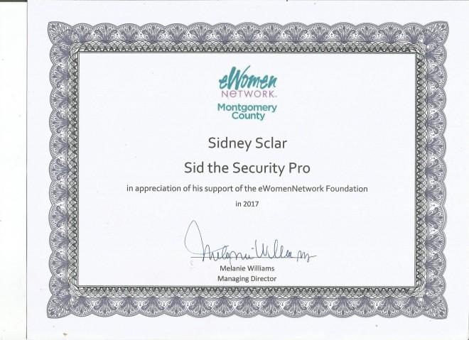 Sid eWn award, 12-17-17